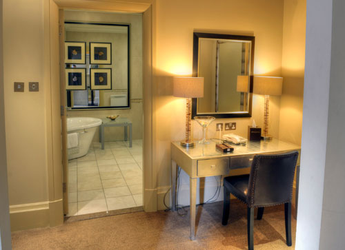 Free-standing bath adds to the elegance in our Ascot Suite