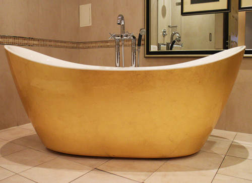 The luxurious honeymoon suite bath.