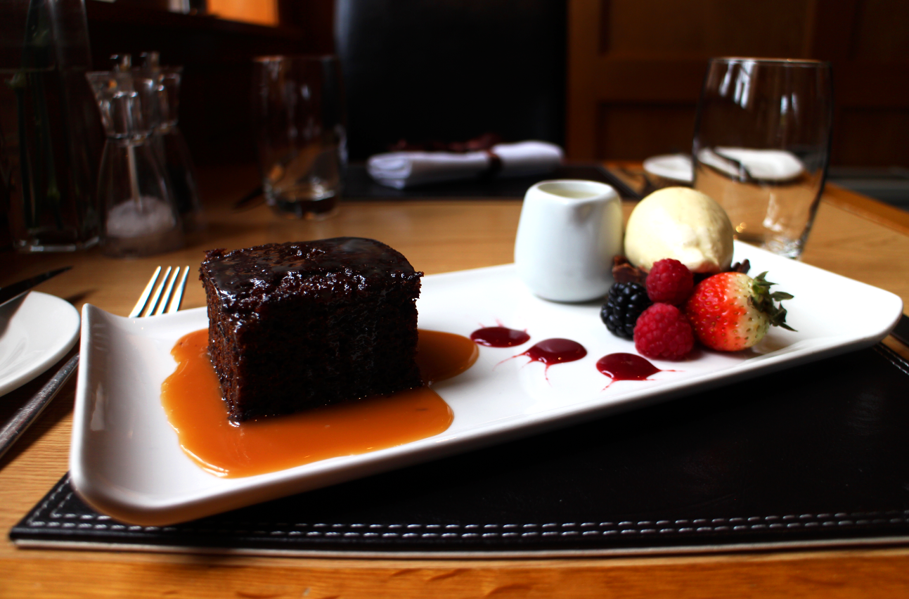 One of the many delicious desserts available in the Jockey Club.