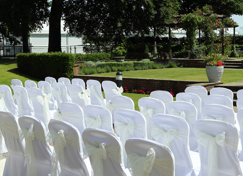 You could have your ceremony on our stunning patio area