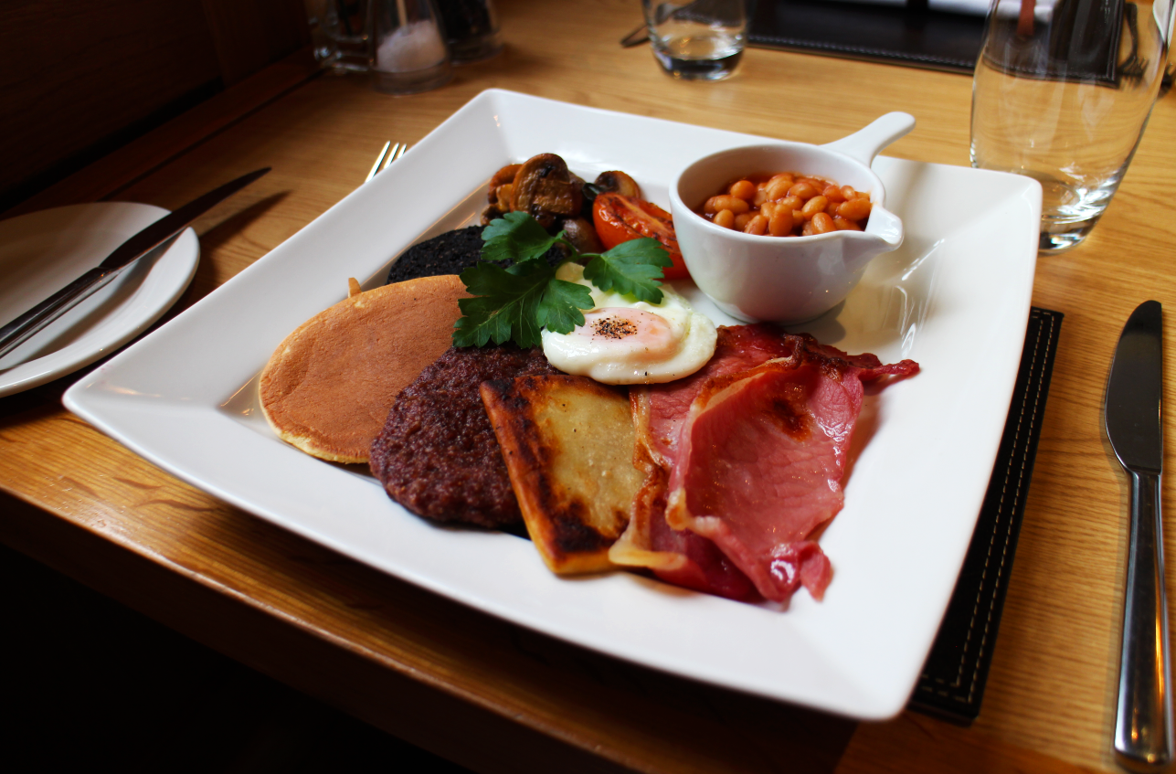 A full cooked Scottish Breakfast is included both mornings.