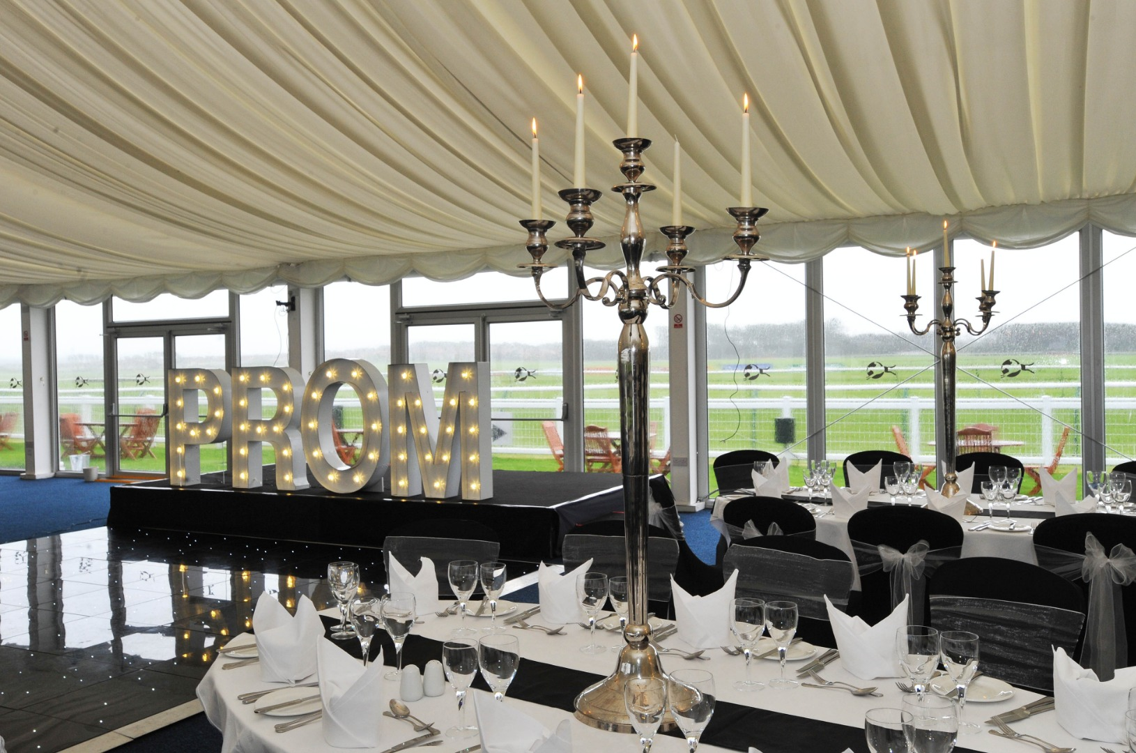 The stunning Paddock Lawn Marquee which can hold up to 250